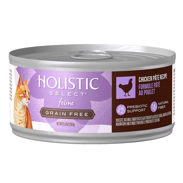 22% OFF: Holistic Select® Grain-Free Chicken Pâté Canned Cat Food 156g (12/24pcs)