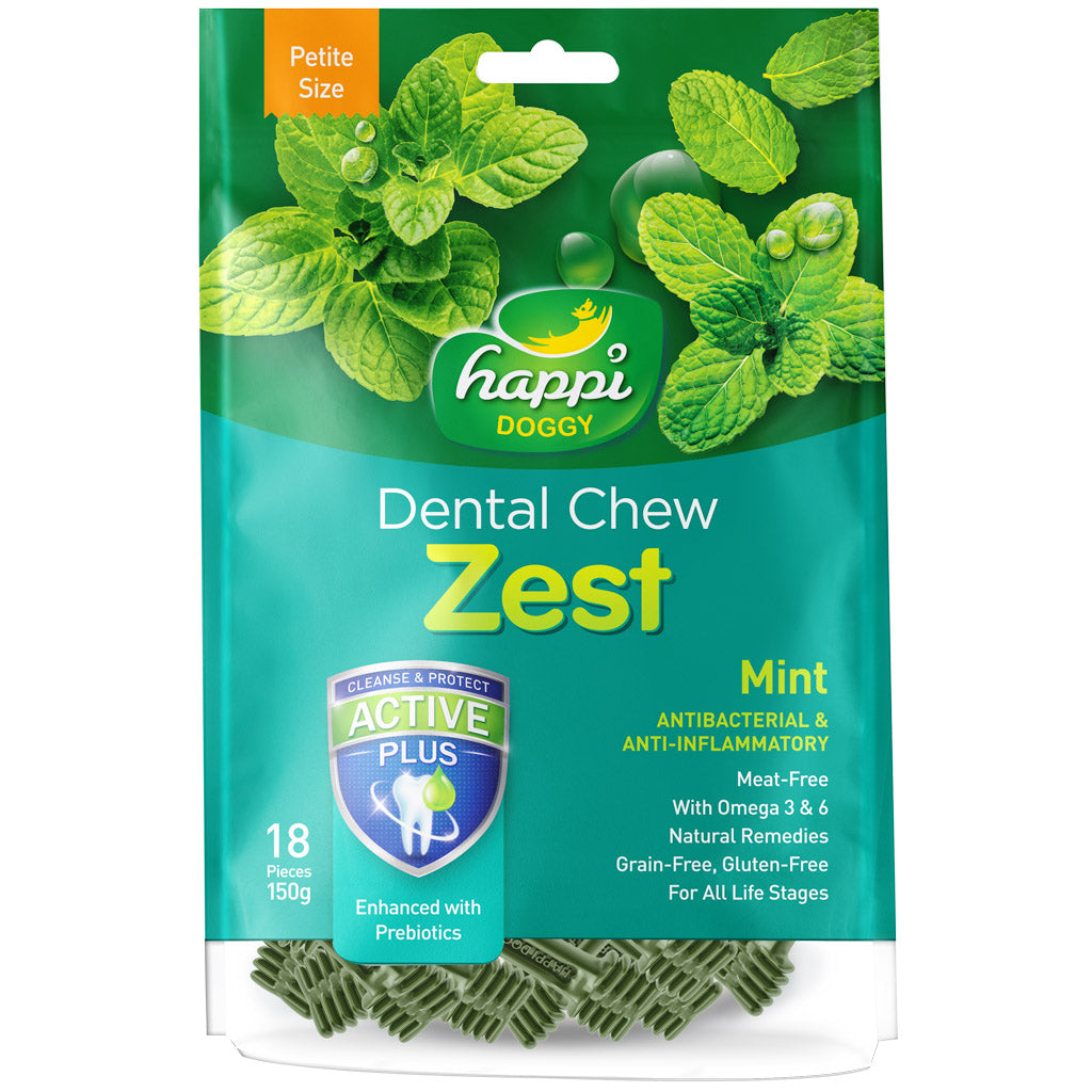 $7.90 ONLY: Happi Doggy® Zest Dog Dental Chews 150g (6 Flavours)