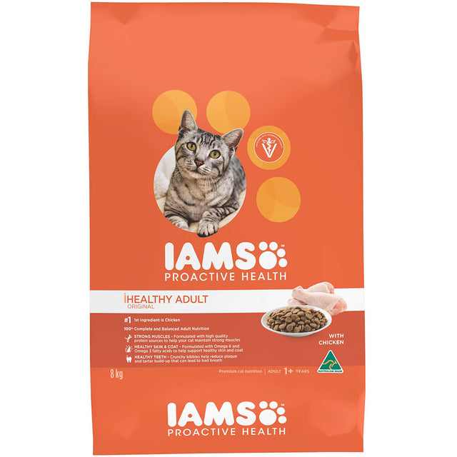 25% OFF: IAMS® ProActive Health Adult Chicken Dry Cat Food (4 sizes)