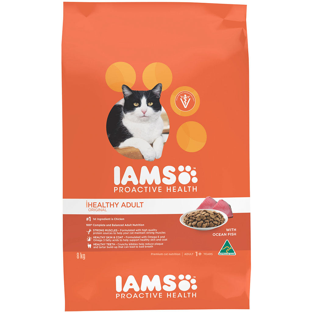 25% OFF: IAMS® ProActive Health Adult Ocean Fish Dry Cat Food (2 sizes)