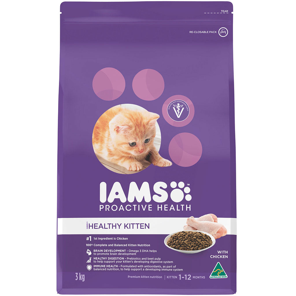 25% OFF: IAMS® ProActive Health Kitten with Chicken Dry Cat Food (2 sizes)