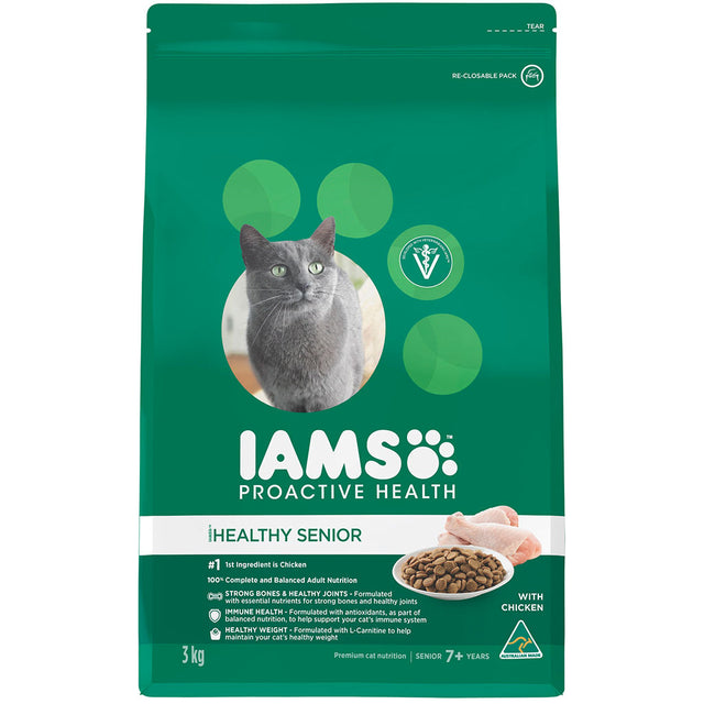 25% OFF: IAMS® ProActive Health Senior 7+ with Chicken Dry Cat Food (2 sizes)