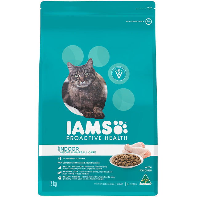 25% OFF: IAMS® ProActive Health Adult Indoor Weight & Hairball Care Dry Cat Food (2 sizes)