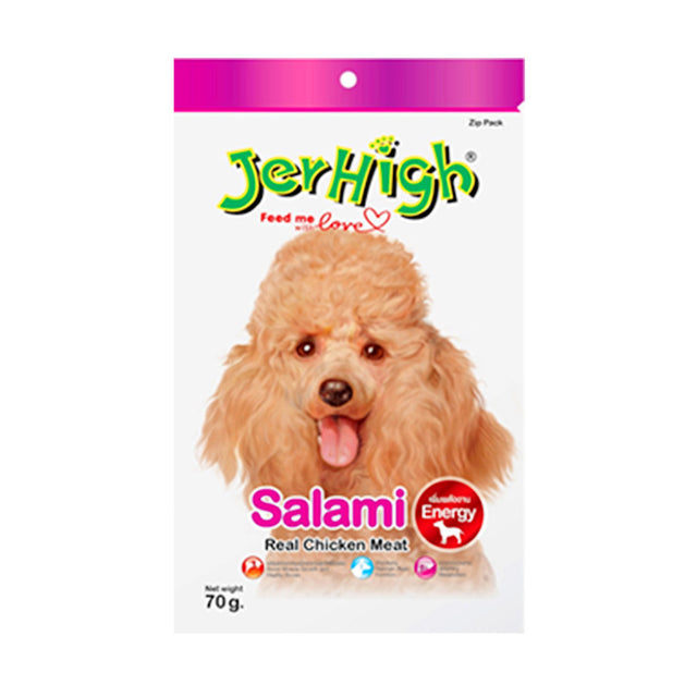 3 FOR $9.90 [SAVER]: JerHigh® Salami Sausage Dog Treats 70g