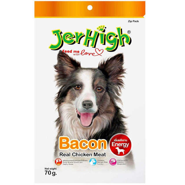 3 FOR $9.90 [SAVER]: JerHigh® Chicken Bacon Jerky Dog Treats (70g)