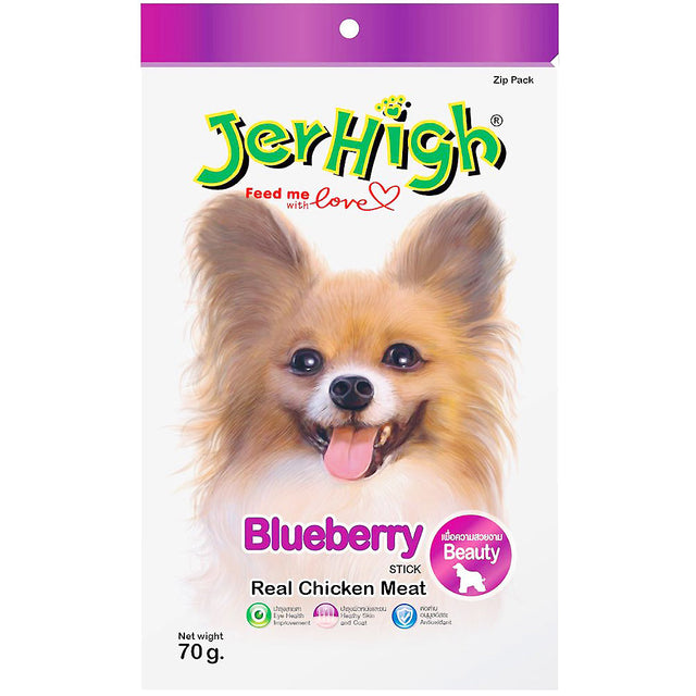 3 FOR $9.90 [SAVER]: JerHigh® Blueberry Jerky Dog Treats (70g)