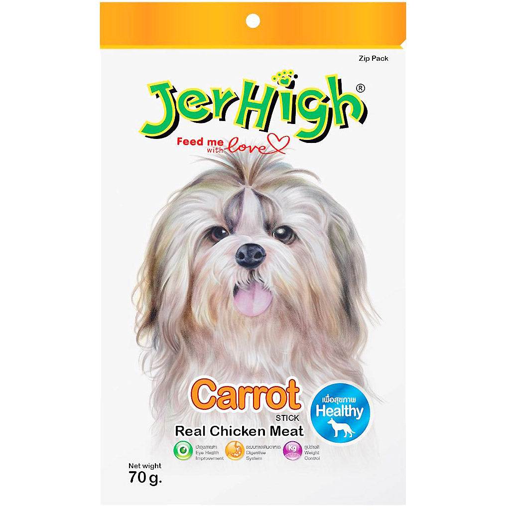 3 FOR $9.90 [SAVER]: JerHigh® Carrot Jerky Dog Treats (70g)