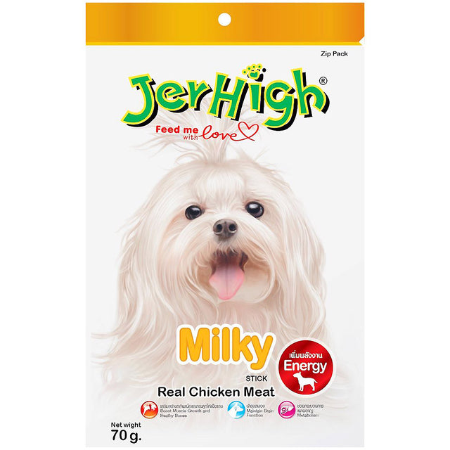 3 FOR $9.90 [SAVER]: JerHigh® Milky Jerky Dog Treats (70g)