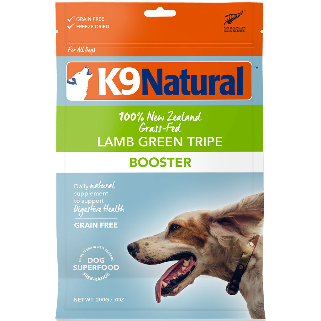 20% OFF: K9 Natural® Freeze-Dried Lamb Green Tripe Toppers (2 sizes)