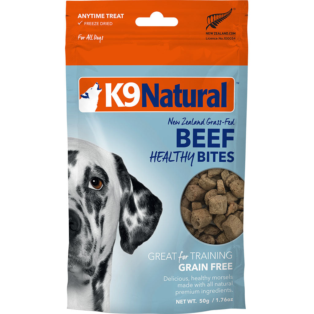 20% OFF: K9 Natural® Freeze Dried Healthy Bites Beef Dog Treats (50g)