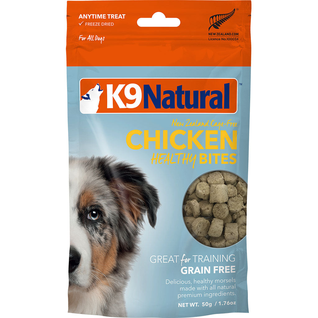 20% OFF: K9 Natural® Freeze Dried Healthy Bites Chicken Dog Treats (50g)