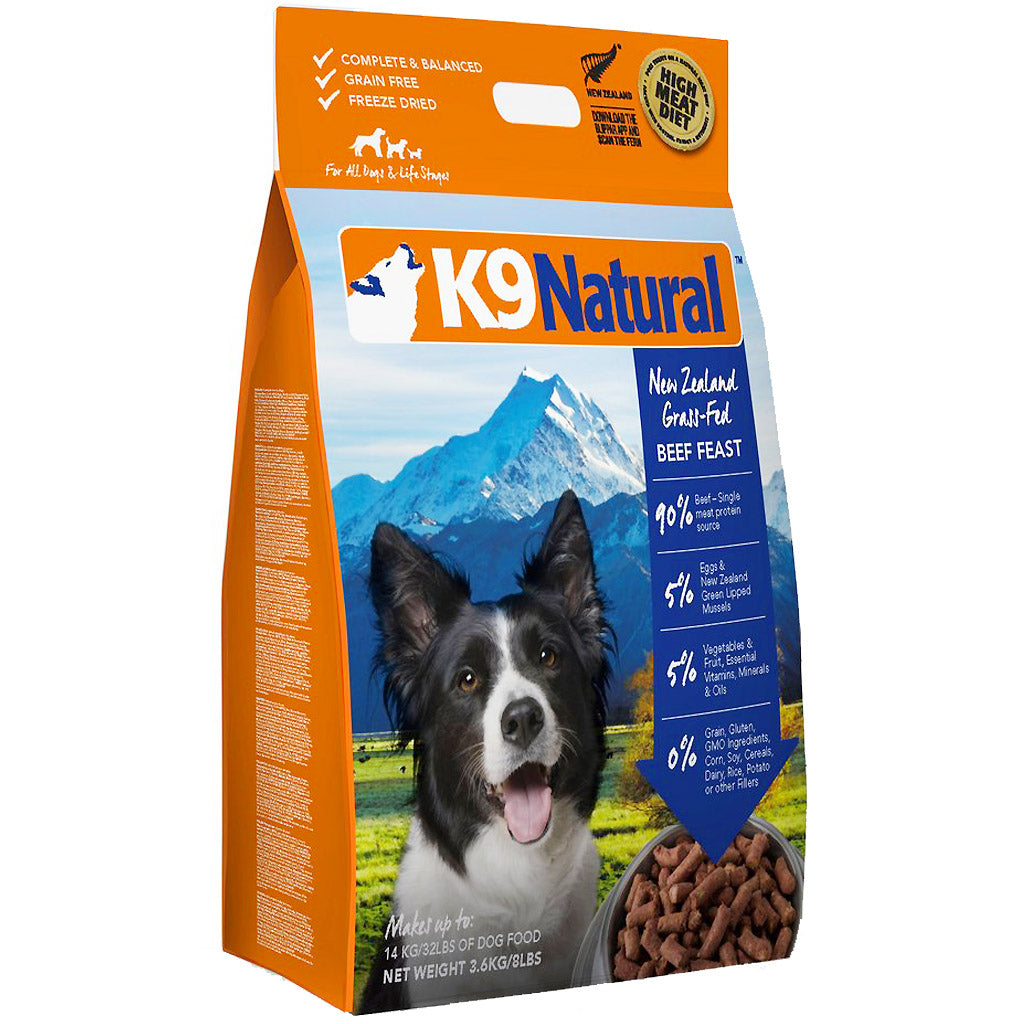 2 FOR $549 [SAVE $187]: K9 Natural® Freeze-Dried Dog Food 3.6kg - 2 Flavours