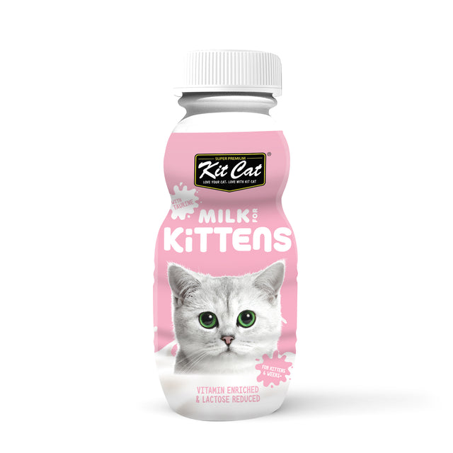 4 FOR $8.80 [PETSALE]: Kit Cat® 100% Natural Milk Kitten (250ml)