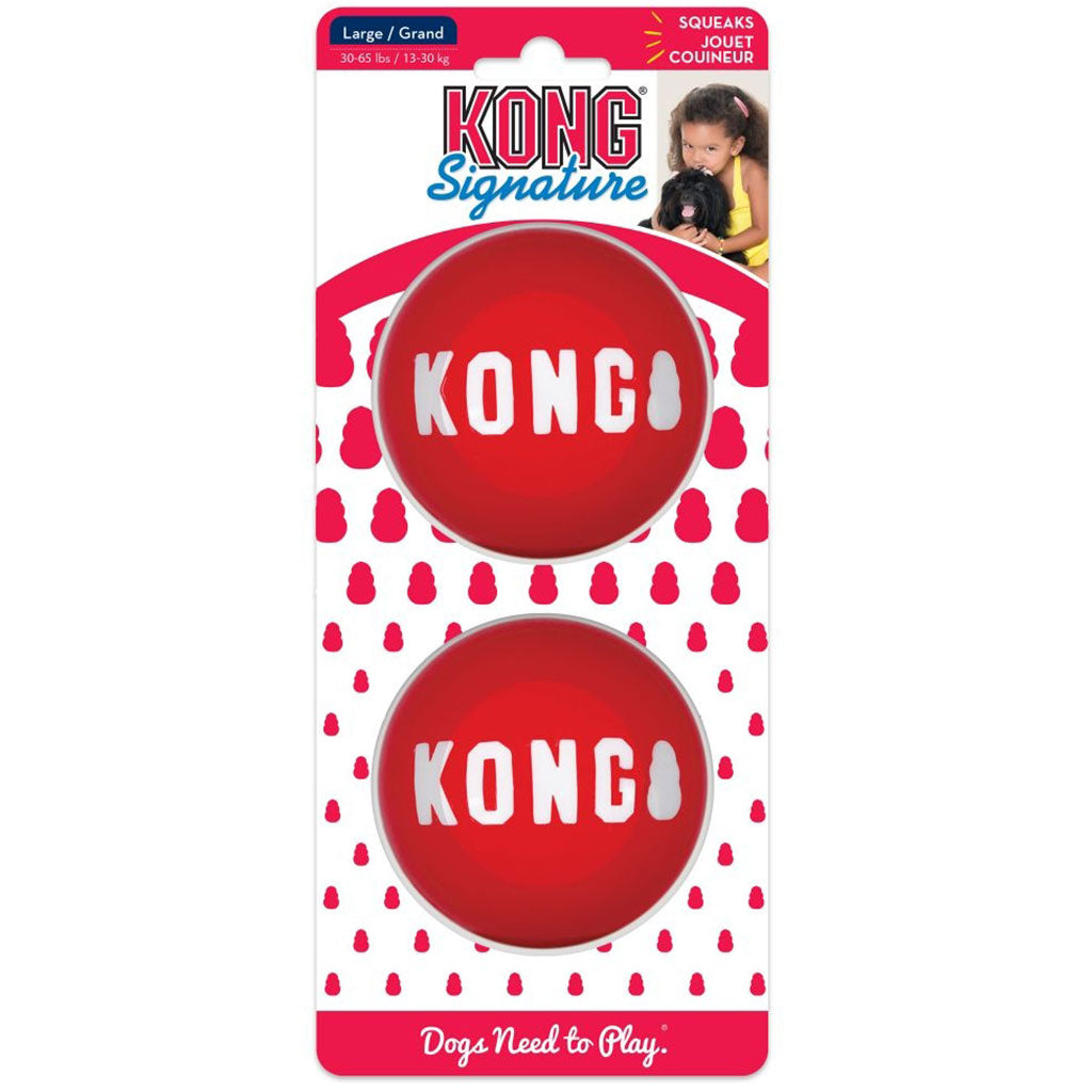 15% OFF [NEW]: KONG® Signature Ball 2-PK Dog Toy (3 sizes)