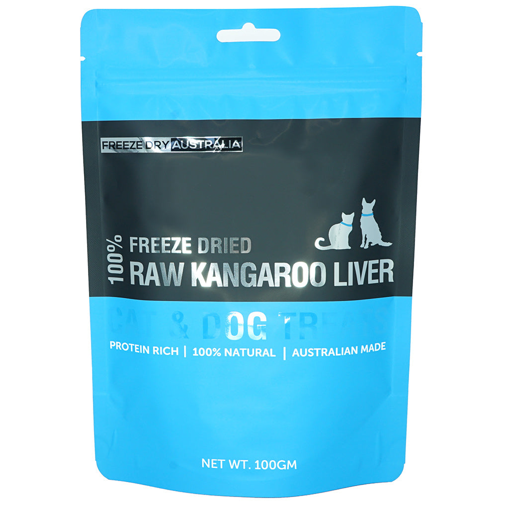 $18 ONLY [XMAS20]: Freeze Dry Australia® Freeze Dried Kangaroo Liver Dog & Cat Treats (100g)