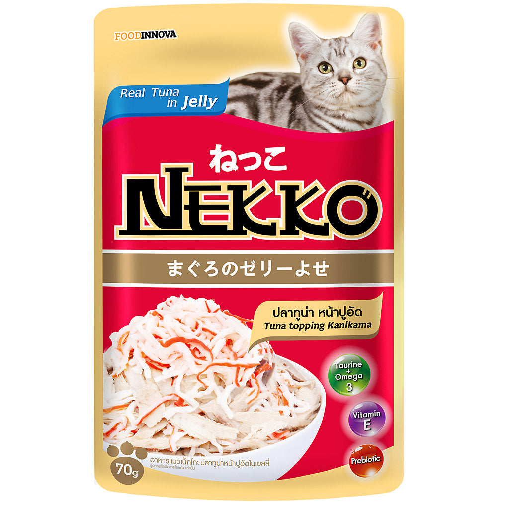 45% OFF: Nekko® Tuna With Kanikama Pouch Cat Food 70g
