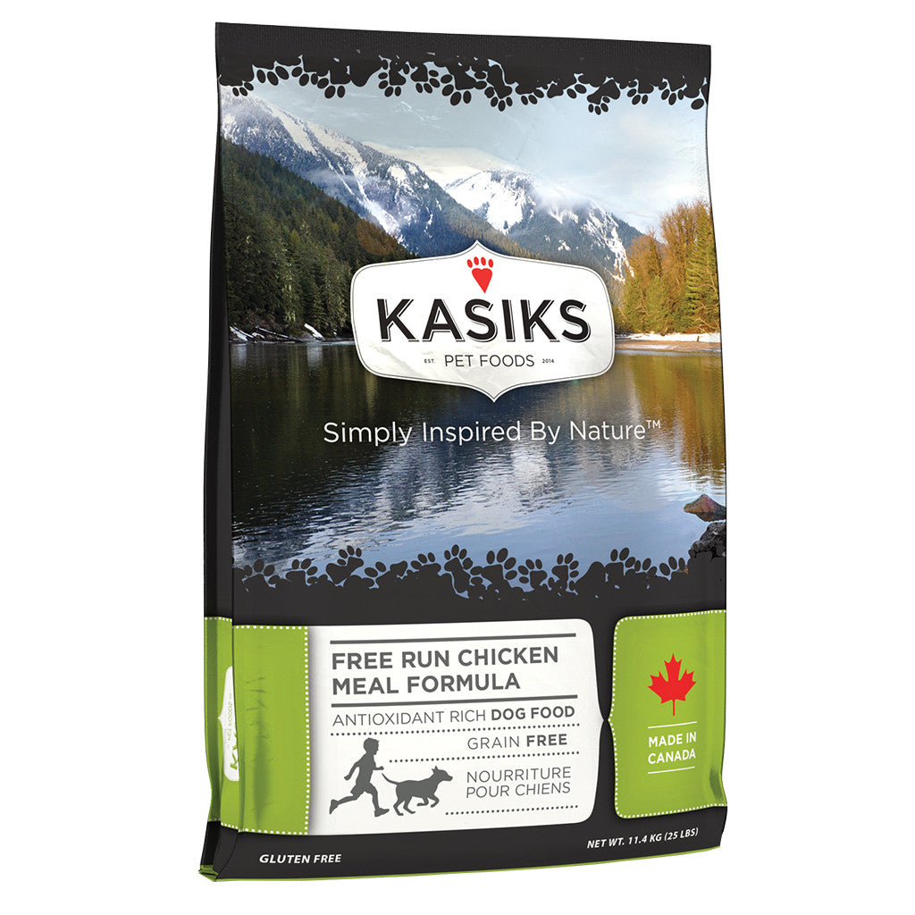 20% OFF + FREE CANS: Kasiks® Grain-Free Free Run Chicken Meal Formula Dry Dog Food (2 sizes)