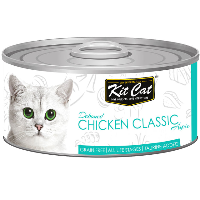 $0.95 ONLY [GSS20]: Kit Cat® Deboned Chicken Classic Grain-Free Canned Cat Food 80g (24pcs)