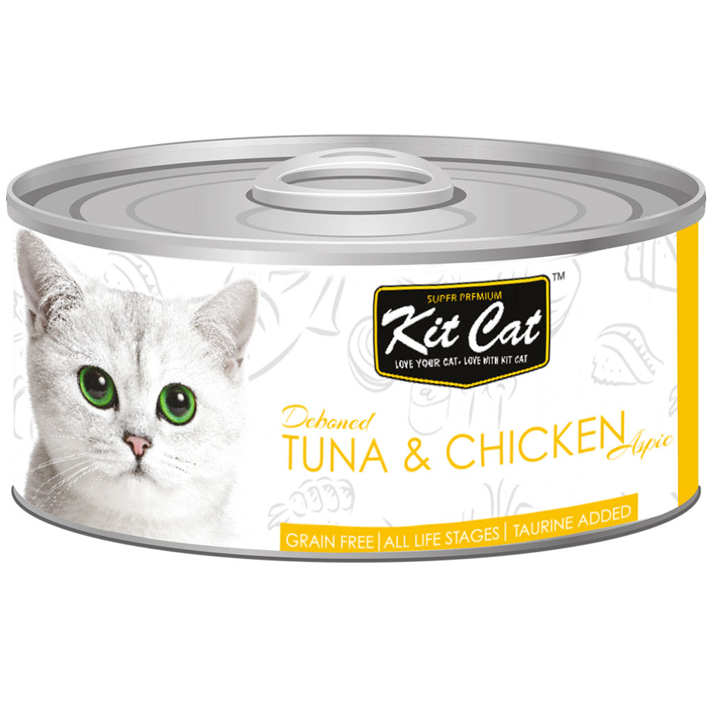 $0.95 ONLY [GSS20]: Kit Cat® Deboned Tuna & Chicken Grain-Free Canned Cat Food 80g (24pcs)