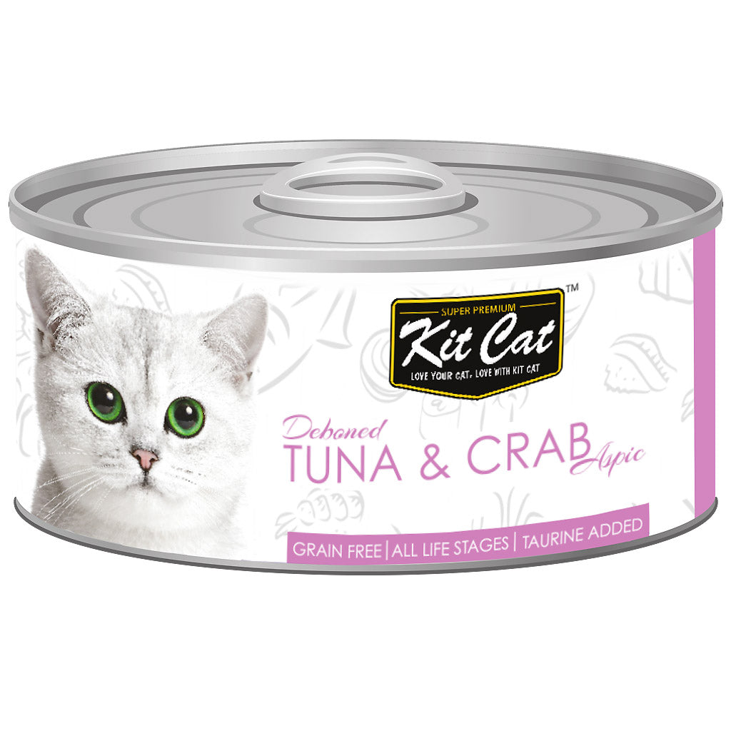 $0.95 ONLY [GSS20]: Kit Cat® Deboned Tuna & Crab Grain-Free Canned Cat Food 80g (24pcs)