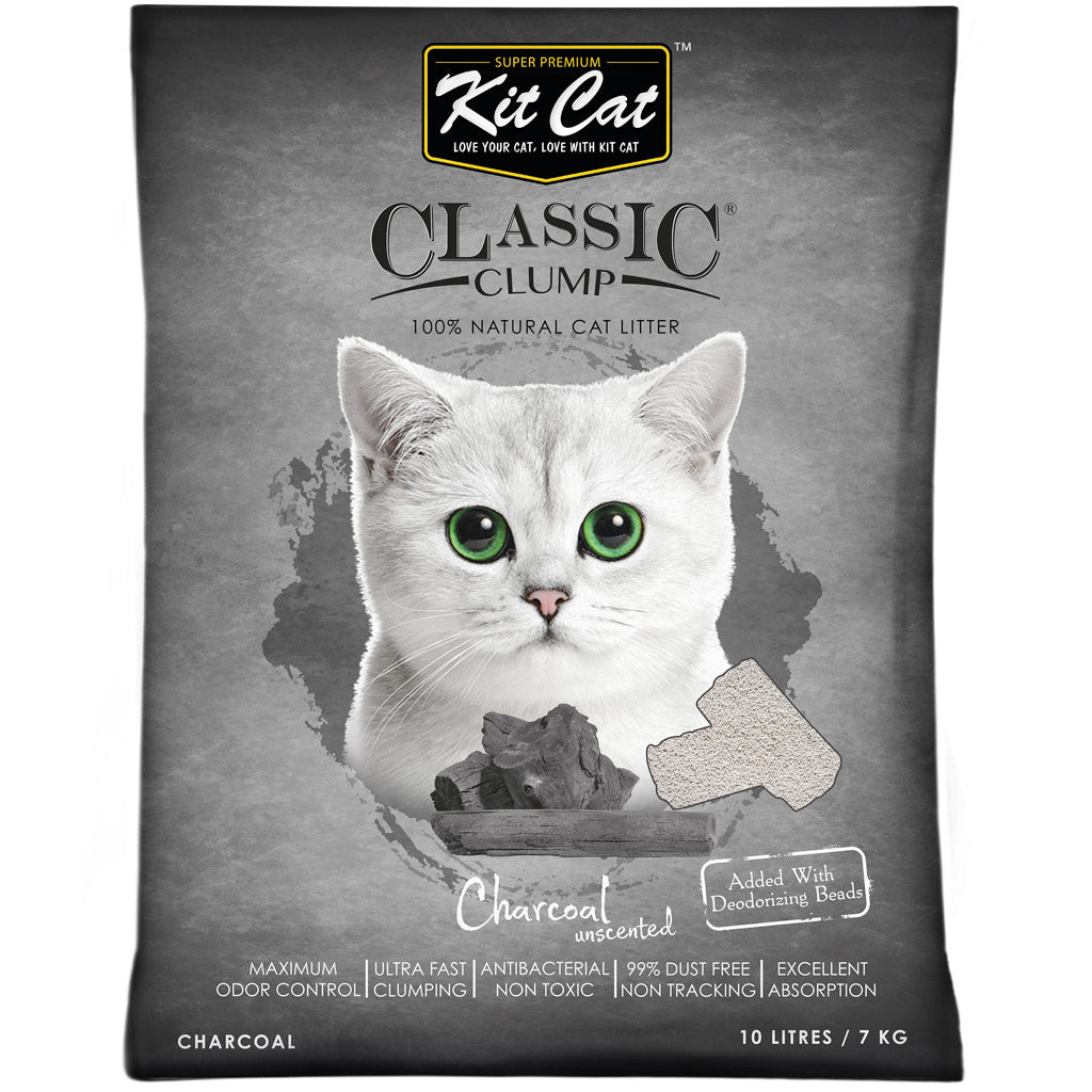 35% OFF: Kit Cat® Classic Clump Charcoal Cat Litter (10L)