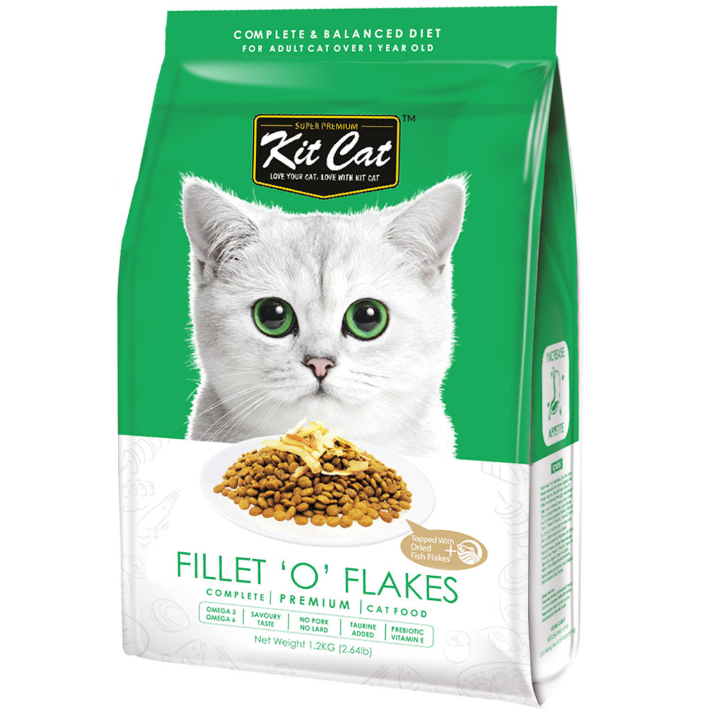 30% OFF: Kit Cat® Premium Fillet 'O' Flakes Dry Cat Food (2 sizes)