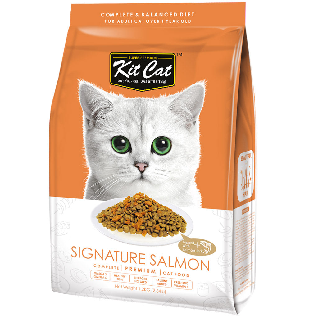 30% OFF: Kit Cat® Premium Signature Salmon Dry Cat Food (2 sizes)