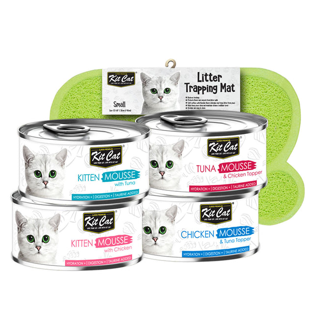 20% OFF: Kit Cat® Mousse Canned Cat Food 80g (4 Flavours)