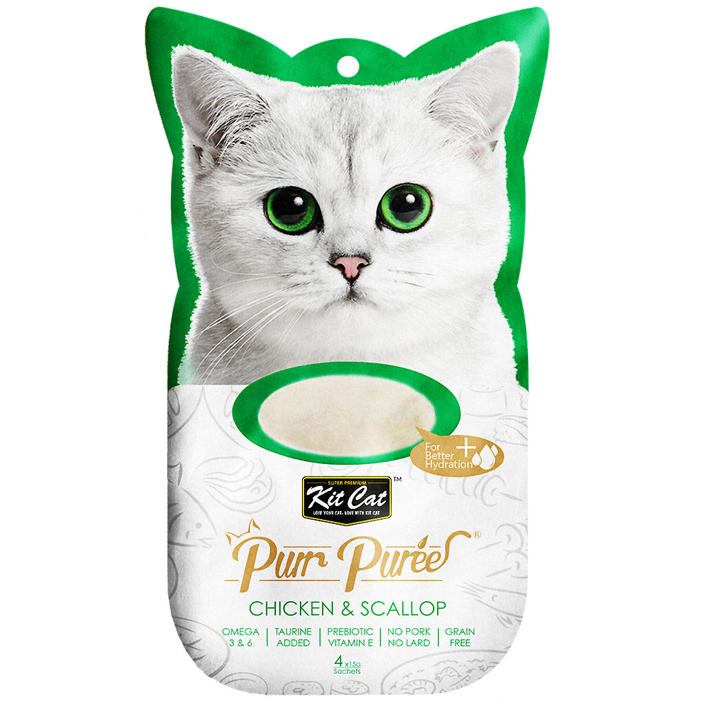 3 FOR $10: Kit Cat® Purr Puree Cat Treats – 16 Flavours (4x15g)