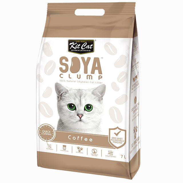 6 FOR $42 [SAVER]: Kit Cat® Soya Clump Eco-Friendly Coffee Cat Litter (7L)