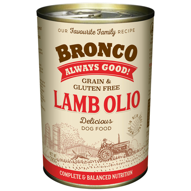 12 FOR $30 [BFCM]: Bronco Lamb Olio Grain-Free Wet Dog Food 390g