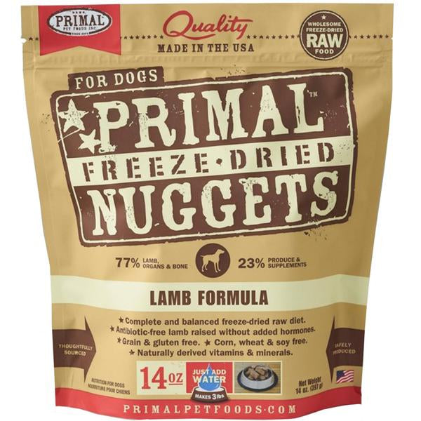 $44 ONLY [60% OFF]: Primal® Freeze-Dried Nuggets Lamb Formula Dry Dog Food 397g (14oz)