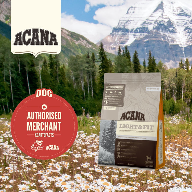 30% OFF + FREE GIFT: ACANA® Heritage Light & Fit Dry Dog Food 2kg