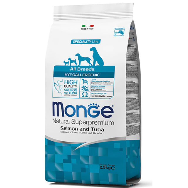 20% OFF [GSS19]: Monge® Hypoallergenic Salmon & Tuna Dry Dog Food (2 sizes)
