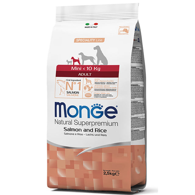 20% OFF [GSS19]: Monge® Mini Adult Salmon and Rice Dry Dog Food 2.5kg