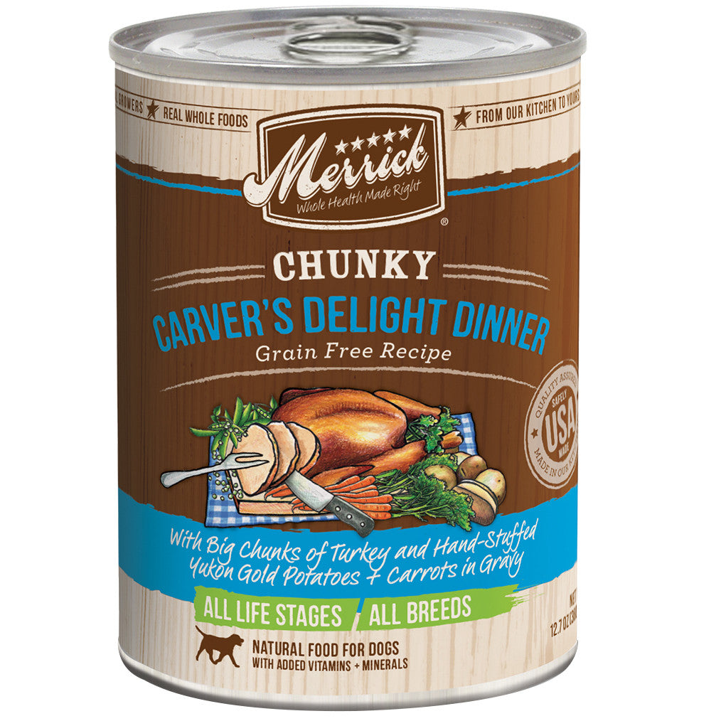 20% OFF: Merrick® Chunky Carver's Delight Dinner GF Canned Dog Food 360g (6/12pcs)