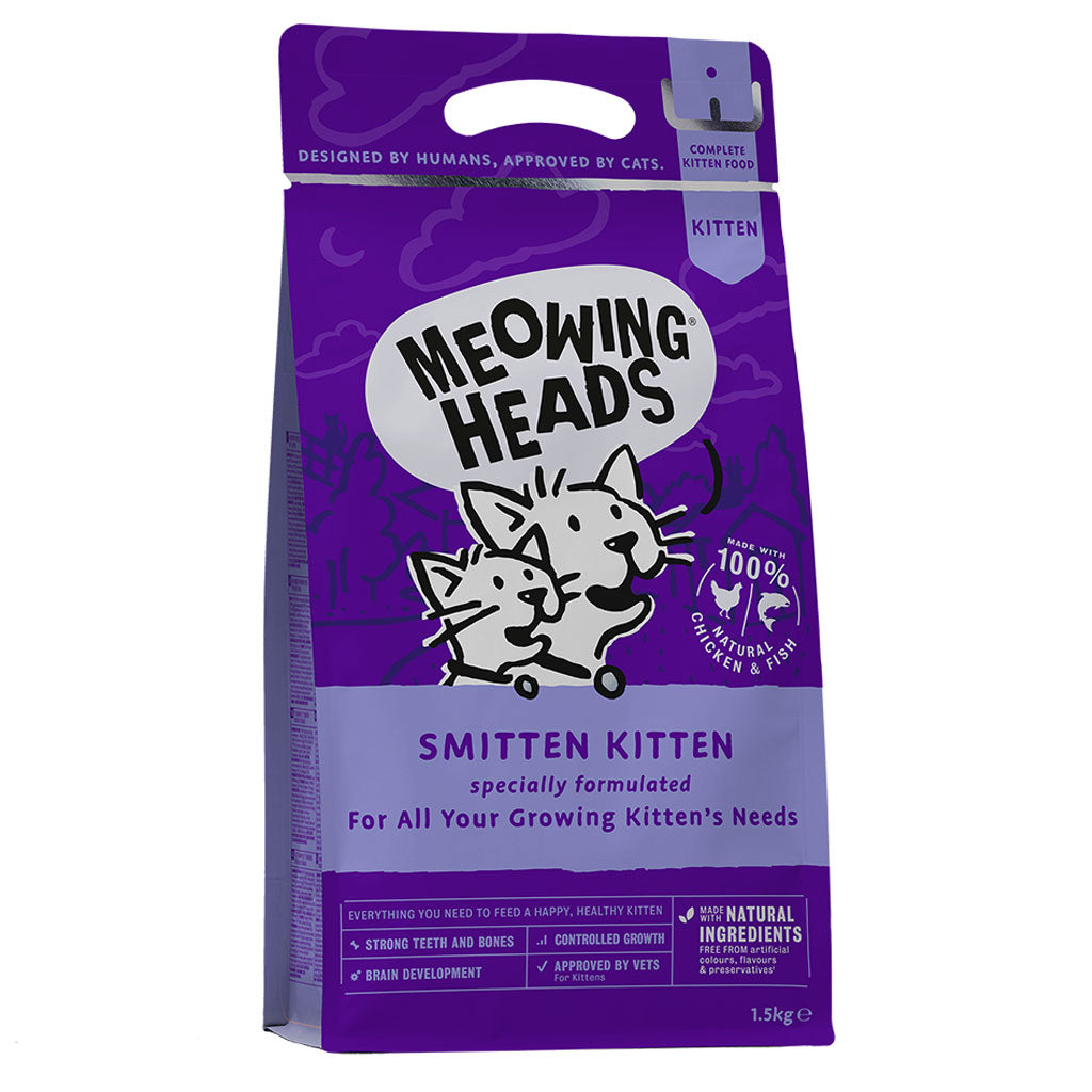 20% OFF: Meowing Heads® Smitten Kitten Dry Cat Food (2 sizes)