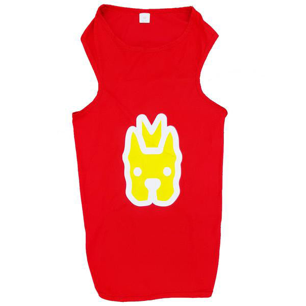 $8 ONLY [CNY21]: MOBY'S® Tank Top for Dogs & Cats - Red (6 sizes)