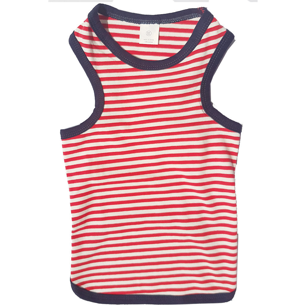 60% OFF: MOBY'S® Red Stripez Tank Top for Dogs & Cats (4 Sizes)