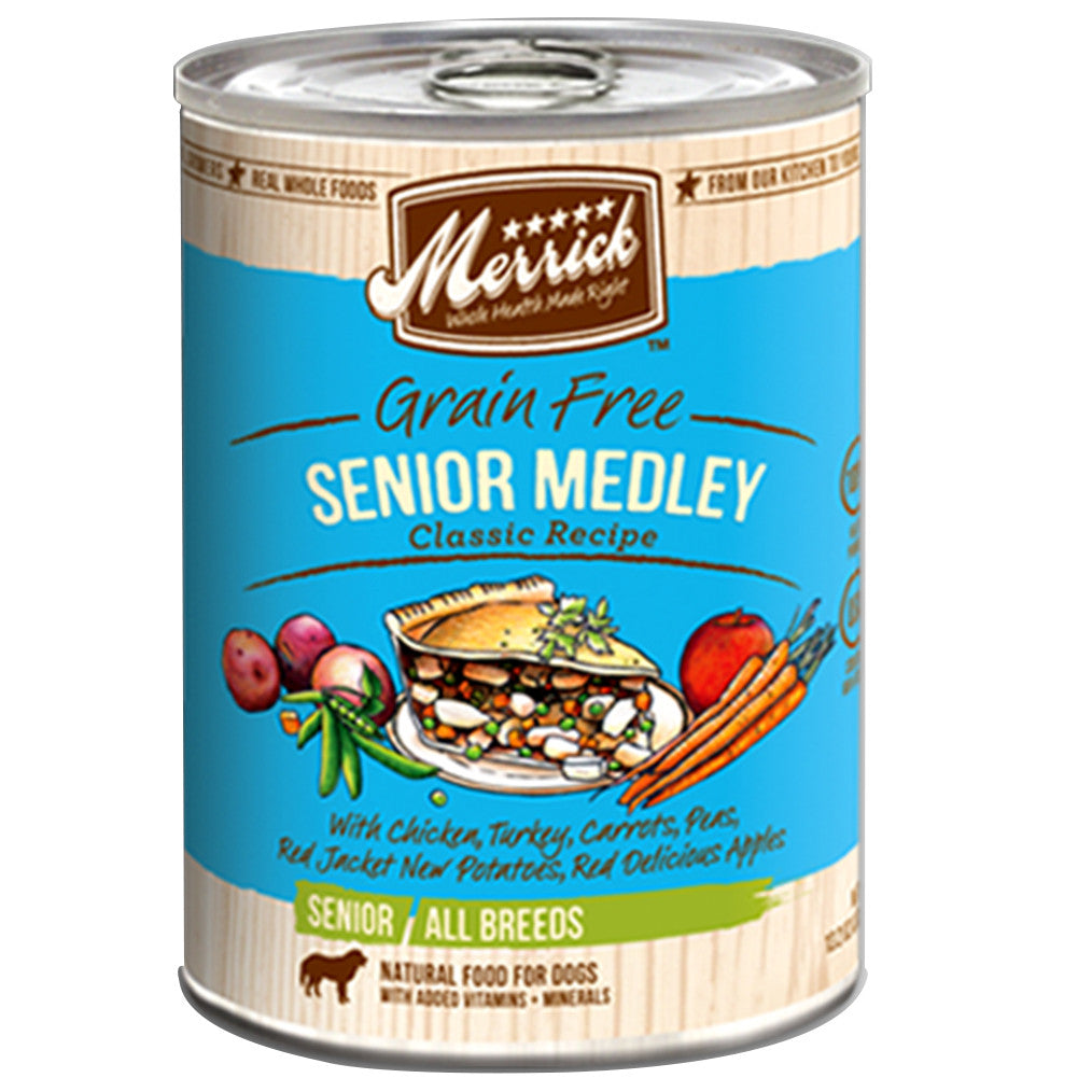 [SALE –20%] Merrick® Senior Medley Classic GF Canned Dog Food 360g (6/12pcs)