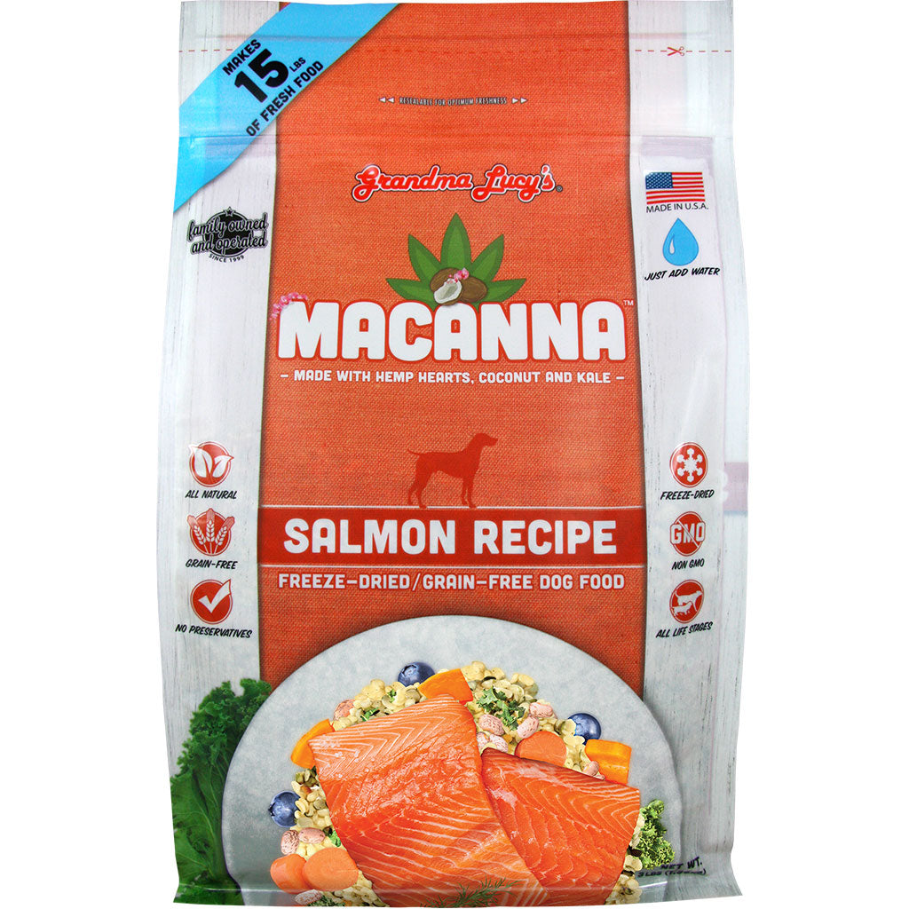 15% OFF: Grandma Lucy's® Macanna Freeze-Dried Salmon Recipe Dog Food (2 sizes)