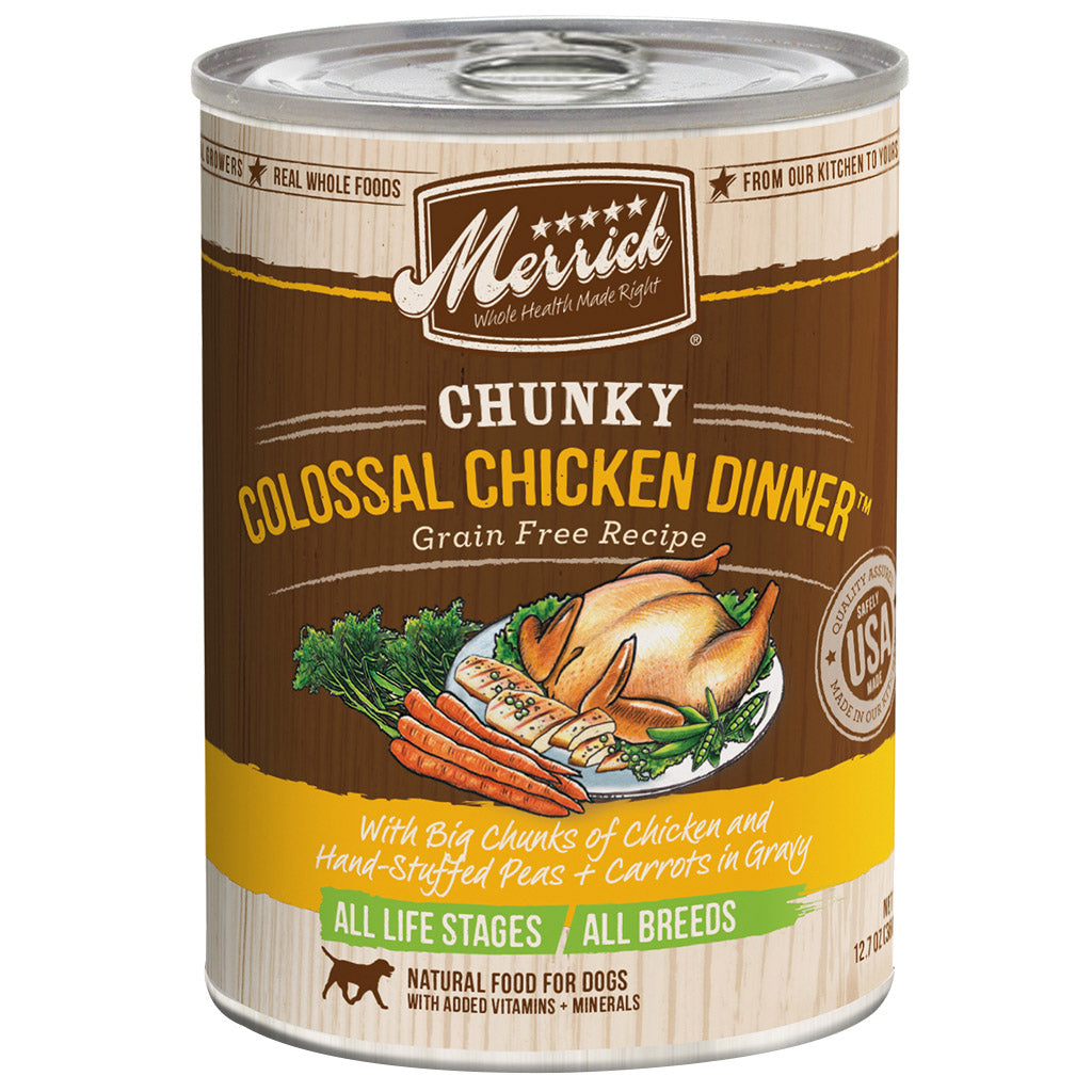 20% OFF: Merrick® Chunky Colossal Chicken Dinner GF Canned Dog Food 360g (6/12pcs)