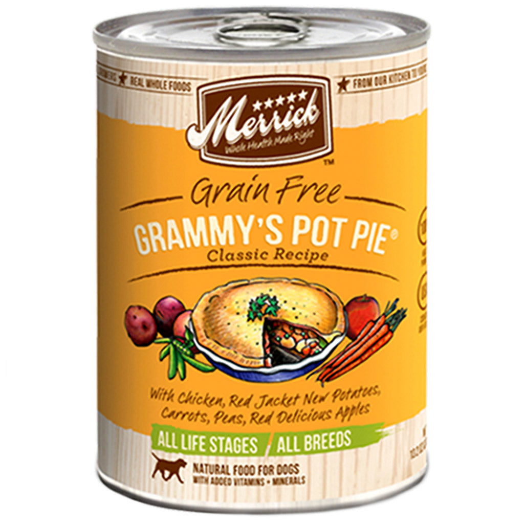 [SALE –20%] Merrick Grammy's Pot Pie Recipe Grain-Free Canned Dog Food 374g (6/12pcs)