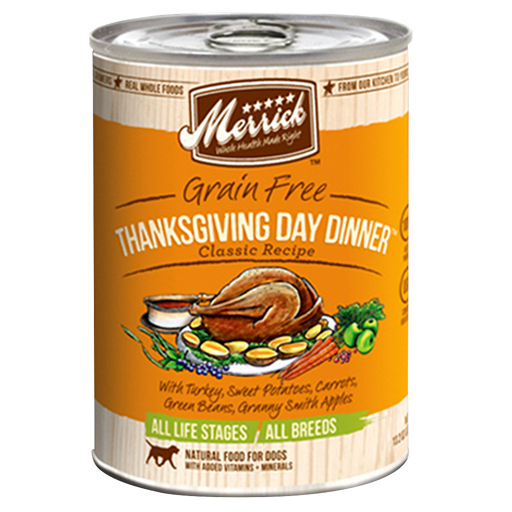 [SALE –20%] Merrick® Thanksgiving Day Dinner Recipe Grain-Free Canned Dog Food 374g (6/12pcs)