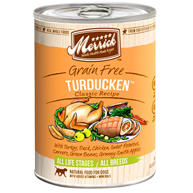 20% OFF: Merrick Grain-Free Turducken Classic Recipe Dog Canned Food 374g (6/12pcs)
