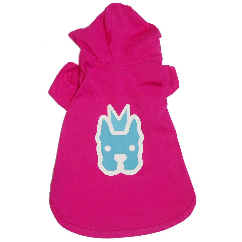 50% OFF: MOBY'S® T-Shirt Hoodie Magenta (Small Dog)