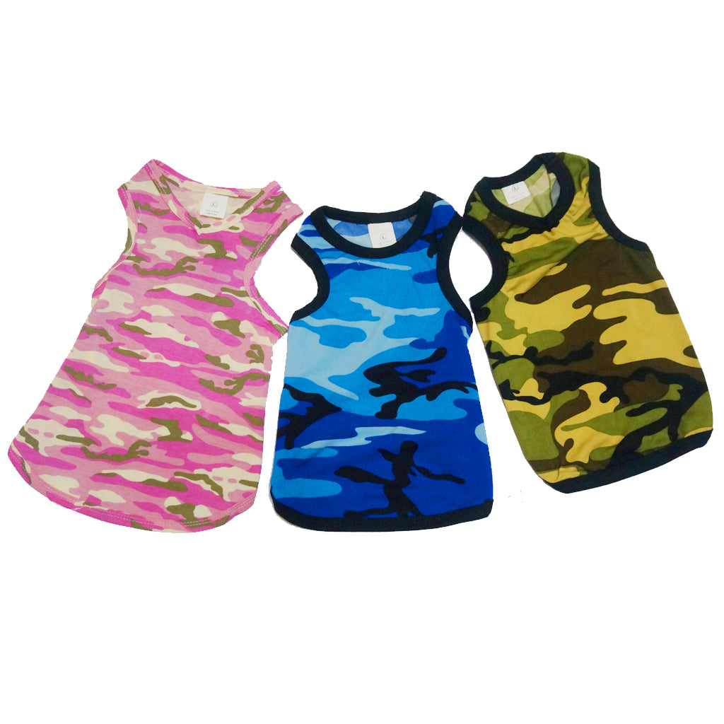 40% OFF: MOBY'S® Camouflage Tank Top for Dogs & Cats - Blue (4 sizes)