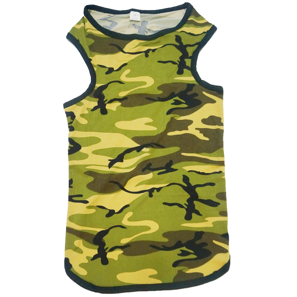 50% OFF [GSS20]: MOBY'S® Camouflage Tank Top for Dogs & Cats - Green (6 Sizes)