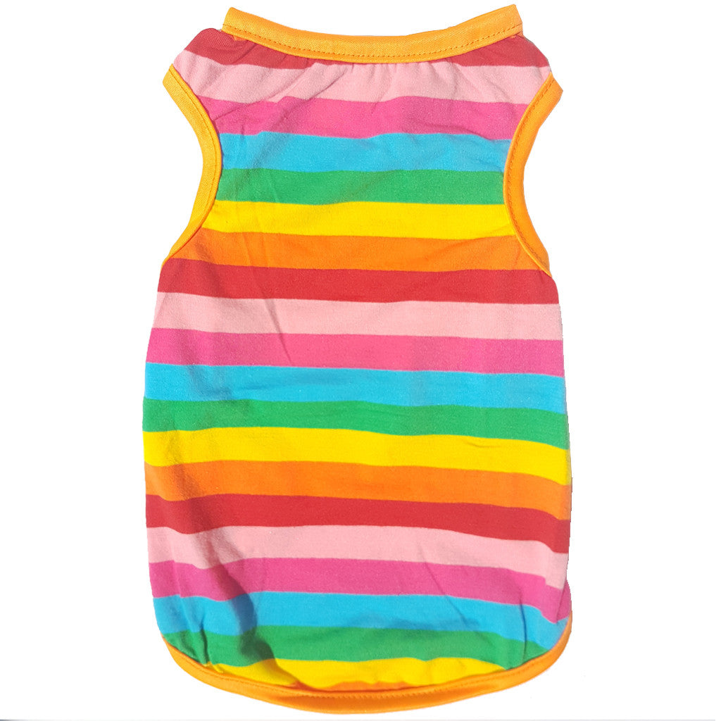 60% OFF: MOBY'S® Rainbow Tank Top for Dogs & Cats (4 Sizes)