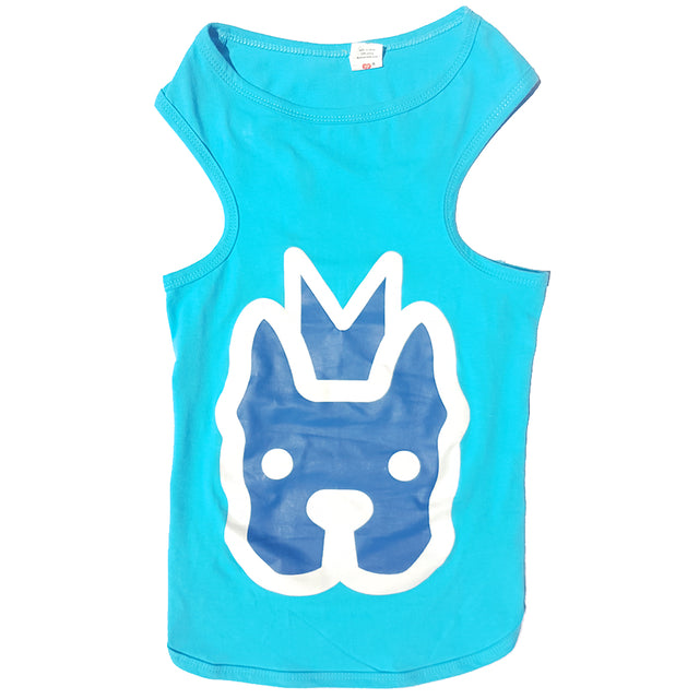 50% OFF [GSS20]: MOBY'S® Tank Top Turquoise (Large Dog)